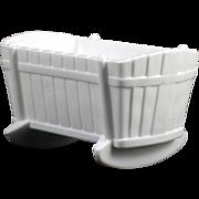 Vintage Milk Glass Cradle Indiana Glass 1950s White Bassinet Crib