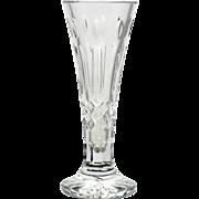 Waterford Crystal Happy Birthday Vase Signed Tom Power Master Cutter Irish Art Glass