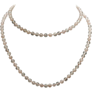 Rose quartz vintage necklace single strand 1930s