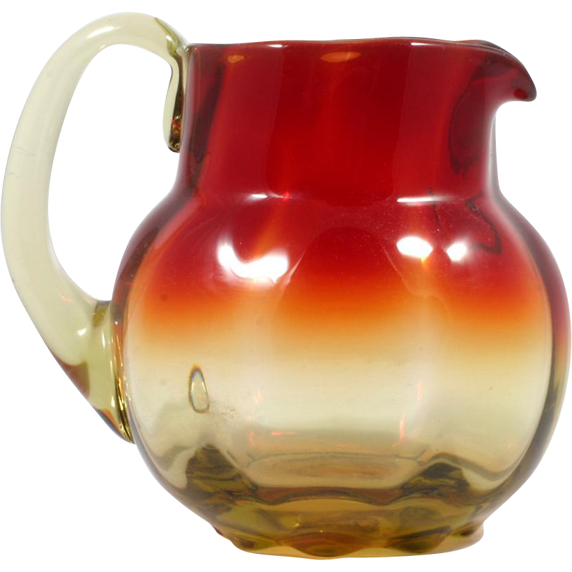 Amberina Art Glass Pitcher Hand Blown Metropolitan Museum of Art Reproduction MMA