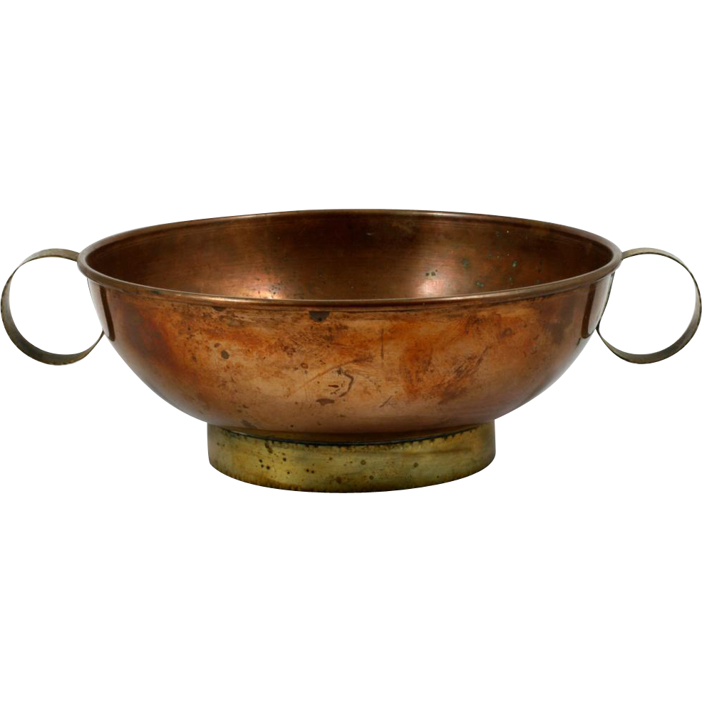 Harald Buchrucker Copper & Brass Bowl German 1930s Vintage Marked