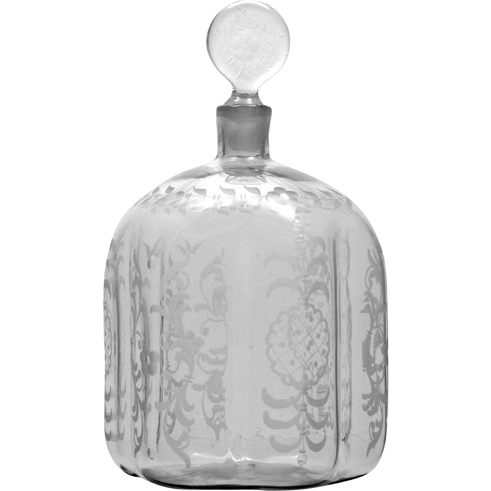 Salir Buccalleti Murano Glass Perfume Bottle Vintage Large Scent Vanity Bottle