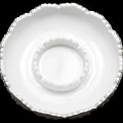 Fenton Milk Glass Hobnail Chip and Dip Bowl Vintage Art Glass Candle Bowl