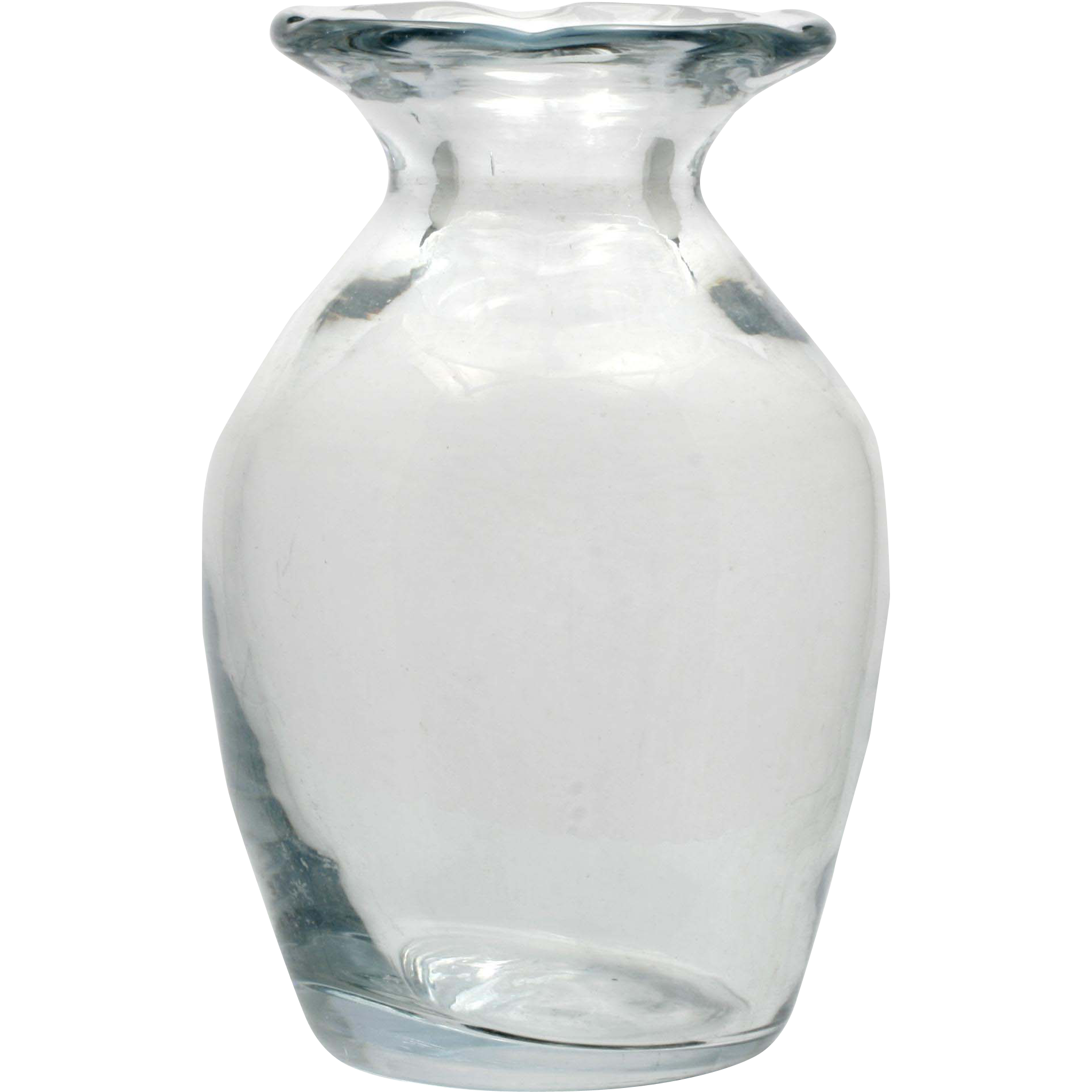 Hand blown art glass vase signed vintage crystal scandinavian or from catisfaction on ruby lane - Vase haut transparent ...