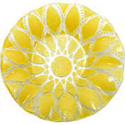 Sydenstricker Yellow Fused Art Glass Bowl Small Signed Dish