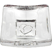 Kosta Boda Art Glass Love Square Days Dish or Candle Tray Crystal Swedish