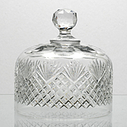 American Brilliant Cut Glass Butter Dish Lid Only Strawberry Diamond and fan
