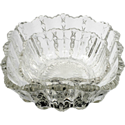 EAPG Diamond Ridge Glass Bowls Antique Pair Square Nesting Duncan and Miller