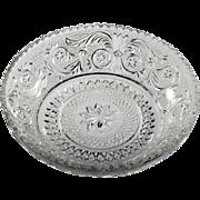 Duncan and Miller Sandwich Glass Vintage Crystal Bowl