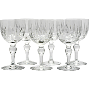 Stuart Crystal Port Wine Glasses Hampshire Cut Glass Set of 6 English