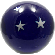 Glass Eye Studio Marble Paperweight Cobalt Stars in the Night Sky Vintage Art Glass