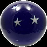 Glass Eye Studio Marble Paperweight Cobalt Stars in the Night Sky Vintage Art Glass