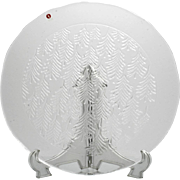 Iittala Kuusi Christmas Tree Platter Vintage Glass Scandinavian Original Box