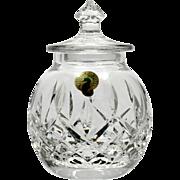 Waterford Lismore Crystal Honey Pot Hand Cut Irish Glass Original Label