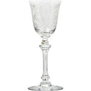 Tiffin June Night Wine Glass Etched Elegant Crystal Vintage 1940s