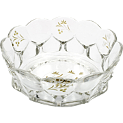 EAPG Bowl Serrated Teardrop No 79D Dalzell, Gilmore and Leighton Flowers