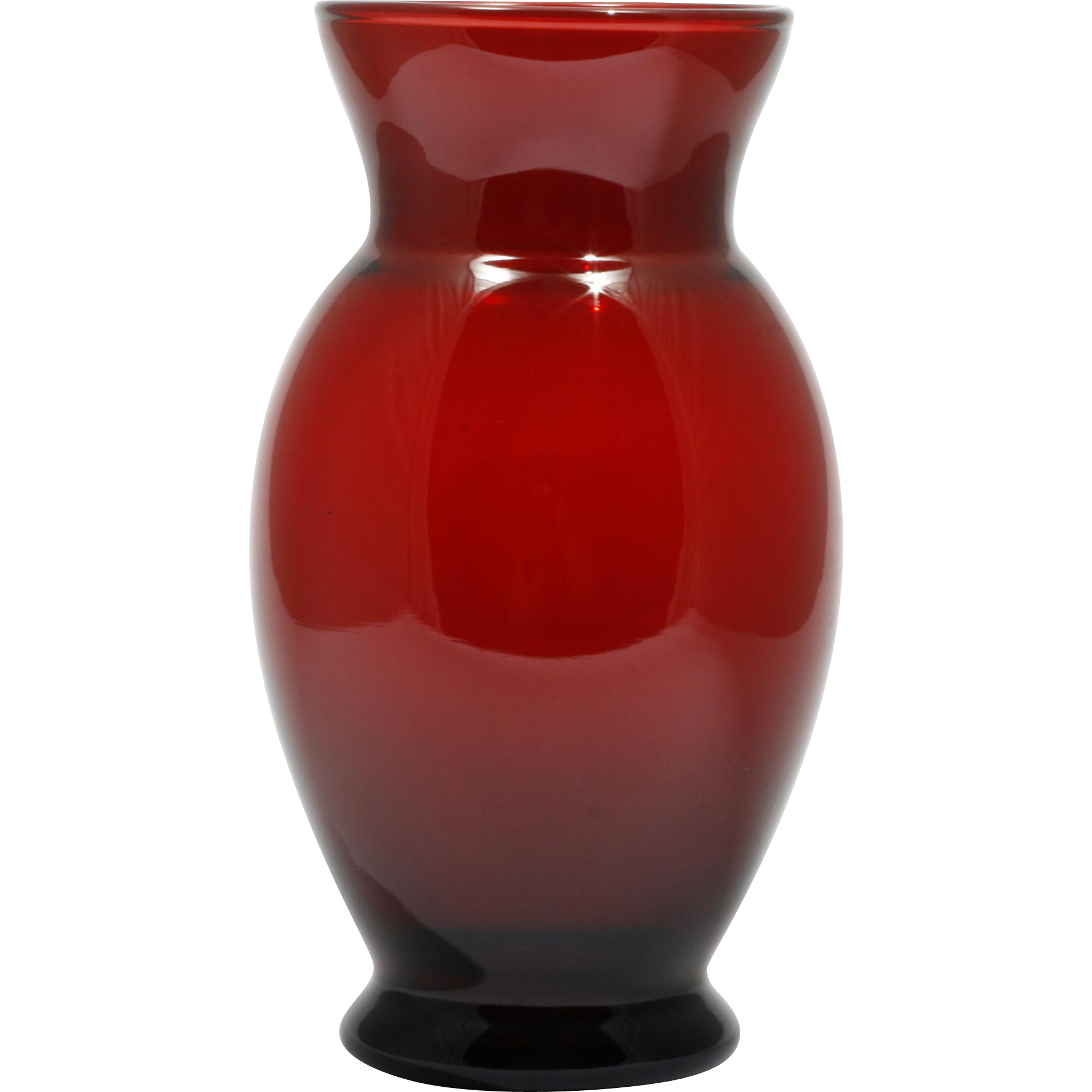 Anchor hocking royal ruby vase red vintage art glass 1960s mid anchor hocking royal ruby vase red vintage art glass 1960s mid century catisfactions glass gallery ruby lane reviewsmspy