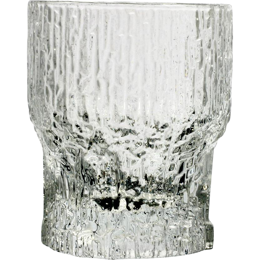 Iittala Aslak Liquor Cocktail Glass Vintage Finland Art Glass Ice Like