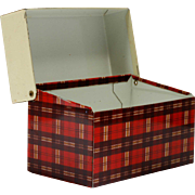 Vintage Tartan Metal Recipe Box Red plaid Tin Ohio Art Company 1950s Storage