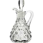 Fostoria American Glass Cruet Bottle Vintage Elegant Glass Oil Vinegar with Stopper