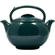 Hall Pottery Green Tea Pot Teamaster Vintage Double Chamber and Spout