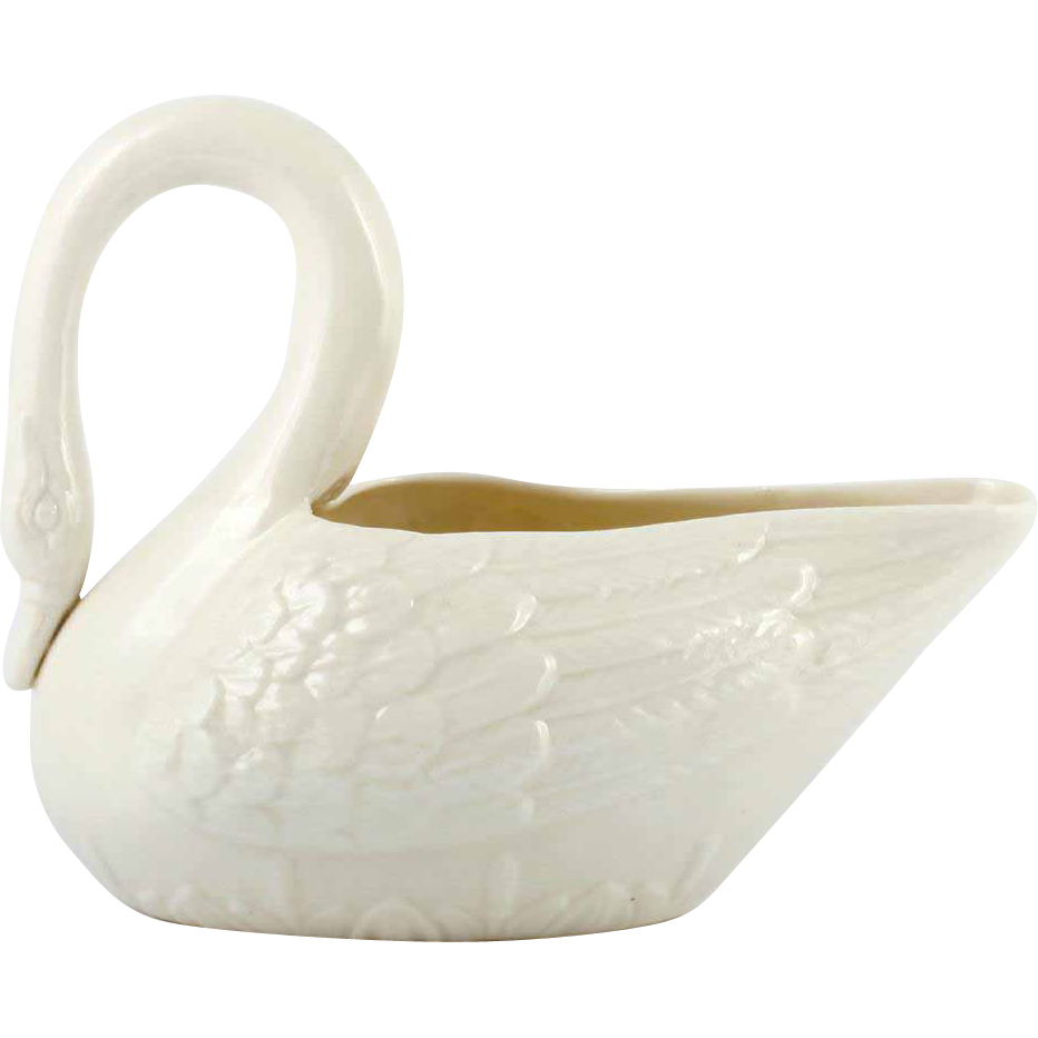 Belleek Swan Figurine Irish Porcelain Vintage 1940s Fourth Mark