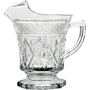 Imperial Cape Cod Glass Pitcher Pint Vintage Elegant Crystal Hand Made