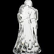 Waterford Crystal Bride and Groom Figurine Irish Cut Glass Wedding Anniversary Gift