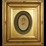 Antique Photo Portrait Gold Frame 1870s Fannie Belle Radford Albany New York