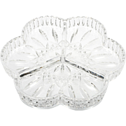 Waterford Crystal Lismore Relish Dish Irish Cut Glass Signed Serving Bowl