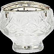 Edinburgh Cut Crystal Rose Bowl Vase Miniature Scottish Art Glass with Wire Top