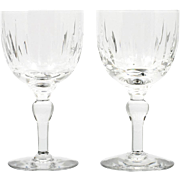 Stuart Crystal Port Wine Glasses Hampshire Cut Glass Set of 2 English Vintage