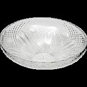 Waterford Cut Crystal Centerpiece Bowl Irish Art Glass 12 inch Vintage Giftware