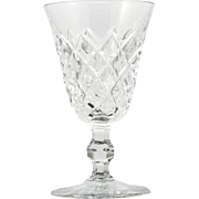 Kosta Boda Cordial Glass Signed Crystal Diamond Pattern Cross Cuts Vintage