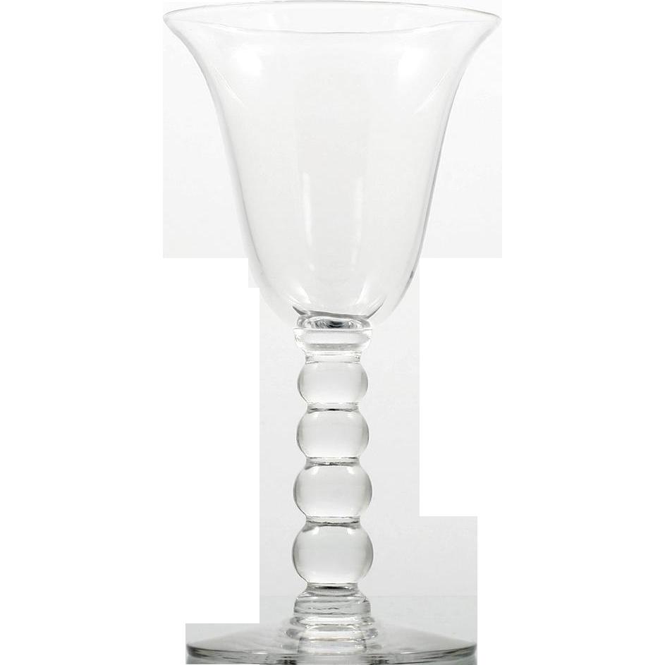 Imperial Candlewick Elegant Wine Glass Ball Stem Vintage Single