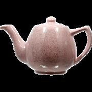 Bauer Pink SpeckleWare Teapot Pottery Vintage Mid Century Modern Speckle