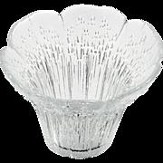 Scandinavian Art Glass Vase Lasisepat Mantsala by Pertto Kallionen Vintage Crystal