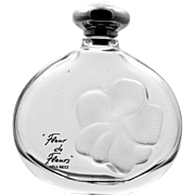 Lalique Perfume Bottle Nina Ricci Fleur De Fleurs Intaglio Frosted Glass