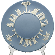 Wedgwood Blue Jasperware Cake Plate Sacrifice Cream on Lavender English Pottery