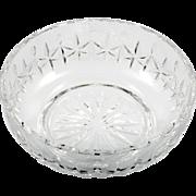 Waterford Irish Crystal Carlow Bowl Hand Cut Art Glass Stars Signed
