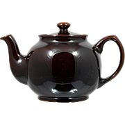 Brown Betty Teapot Sadler Pottery English Vintage Dark Brown