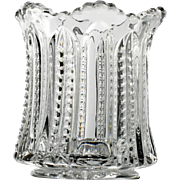 Heisey Paneled Cane Toothpick Holder Antique Elegant Glass 1901 no 315