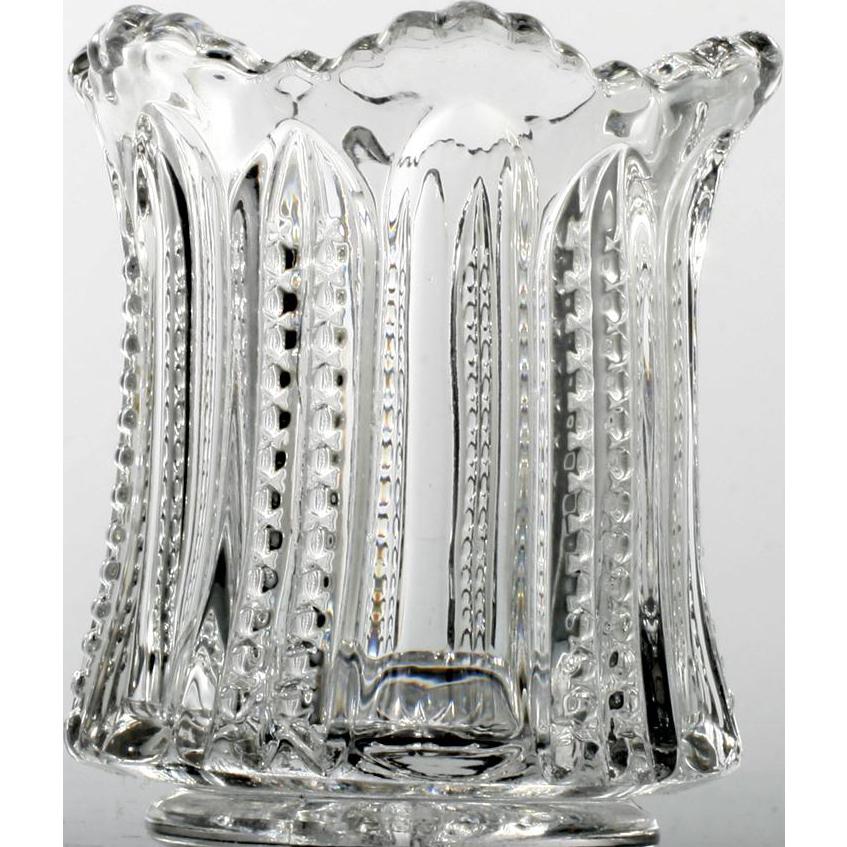 Heisey Paneled Cane Toothpick Holder Antique Elegant Glass 1901 no 315