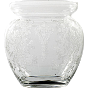 Cambridge Rosepoint Glass Marmalade Jar Vintage Elegant Etched Glass