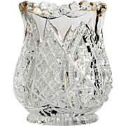 Duncan and Miller EAPG Toothpick Holder Scalloped Six Point Antique Pressed Glass