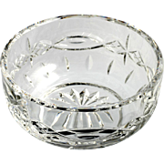 Waterford Cut Crystal Dolman Bowl Irish Hand Made Glass Vintage Star Oval Cut