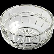 Waterford Cut Crystal Dolman Bowl Irish Hand Made Glass Vintage Star Oval Cut