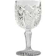 Imperial Glass EAPG Wine Glass Bellaire Octagon Number 505 Antique Pressed Glass