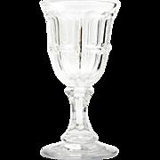 Bigler EAPG Antique Wine Glass Boston and Sandwich 1850s Pressed Glass
