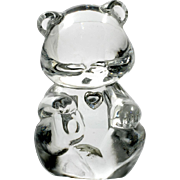 Fenton Glass Birthday Bear April Diamond Birthstone Figurine Art Glass